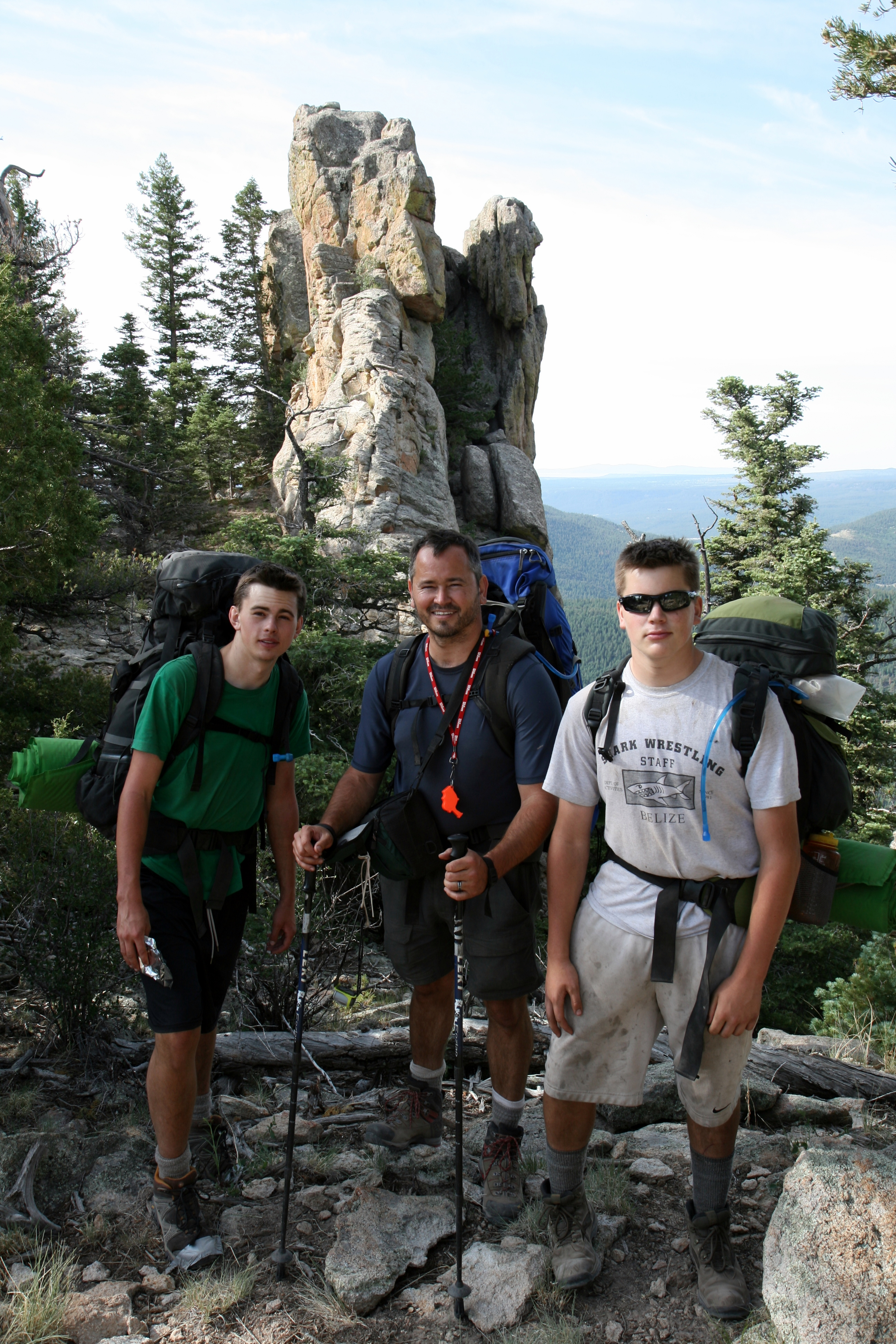 3 Eagle Scouts at Philmont - Skye, Smoke & Cameron Wallin